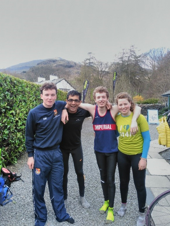 Figure 2 Smiling faces all round after a great morning's racing