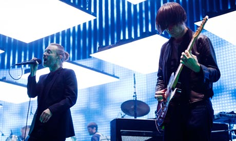 Radiohead perform at the O2 in London