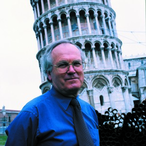 John Burland at the Leaning Tower of Pisa