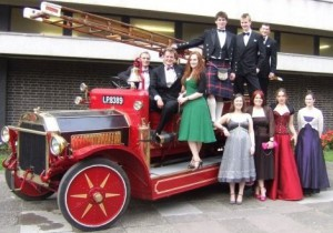 Motor Club Members accompany Jez to the Summer Ball in 2008